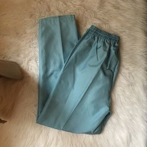 Oleg Cassini Pants - Oleg Cassini 100% Silk Baby Blue Casual Pants.